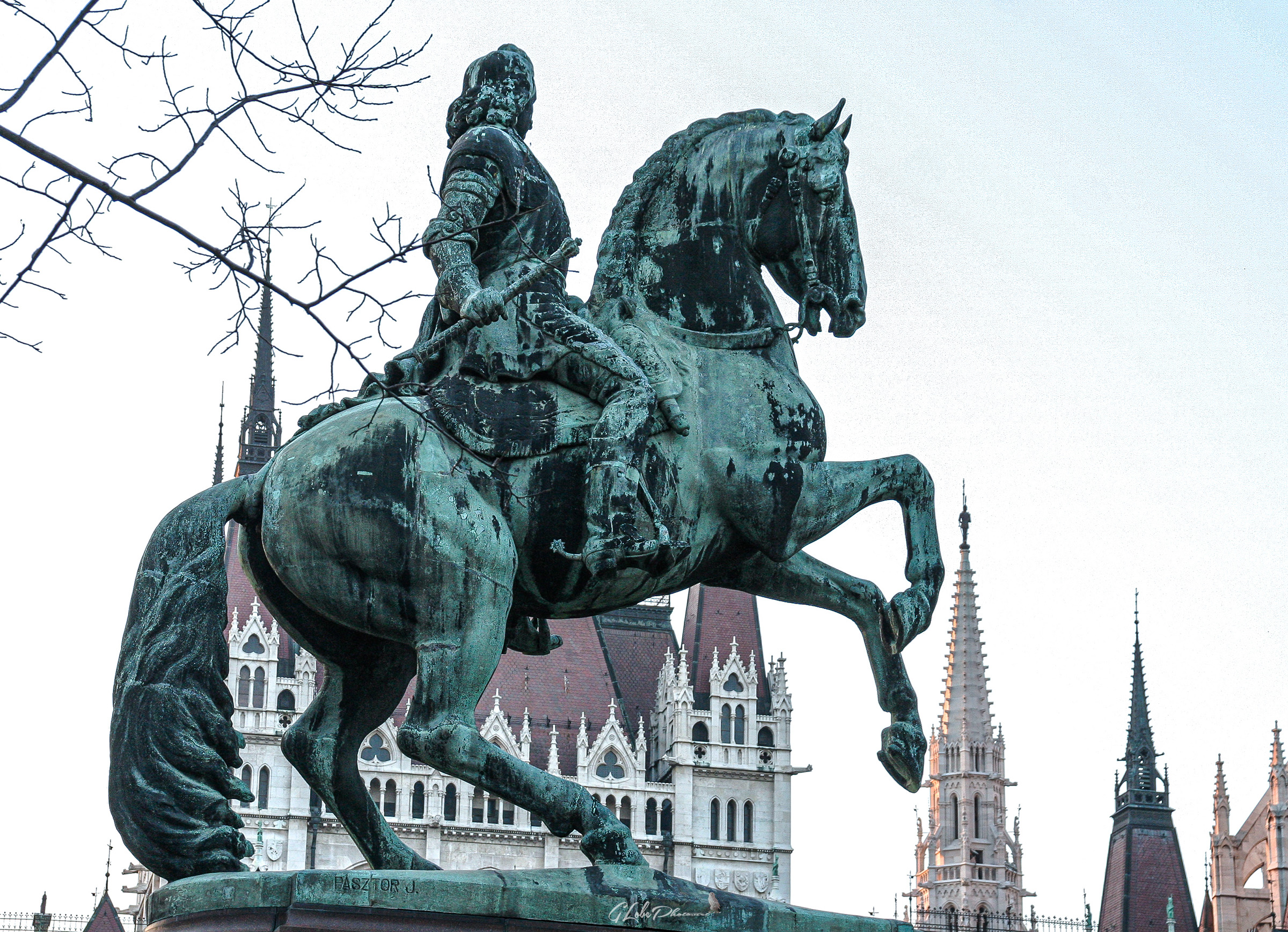 Equestrian statue near the Parliament