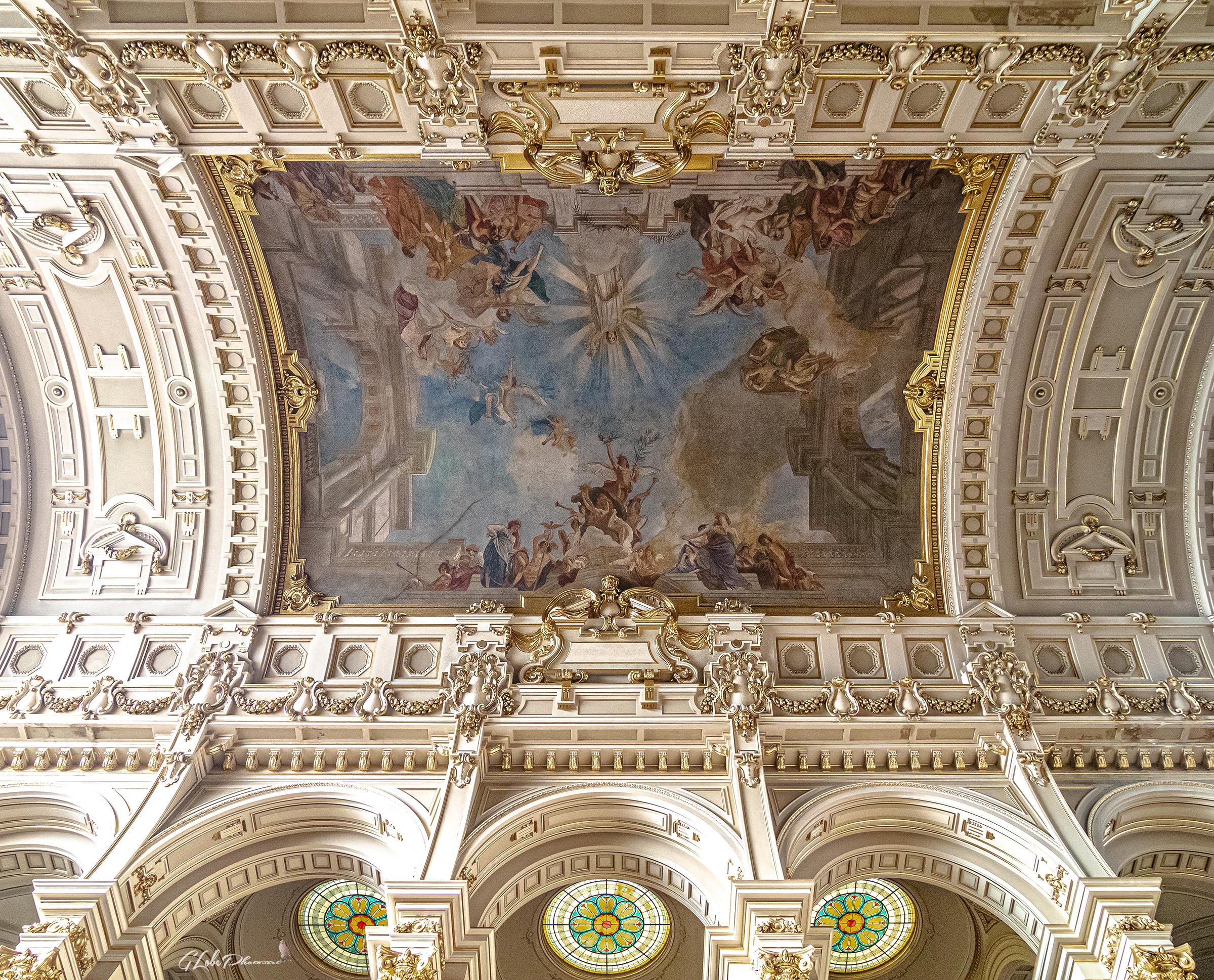 Lotz Károly: Justitita Diadala mennyezeti freskó