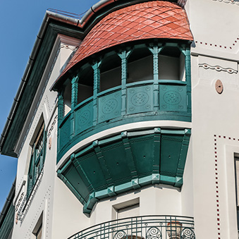 House built in Art Nouveau style, in Budapest 6. district