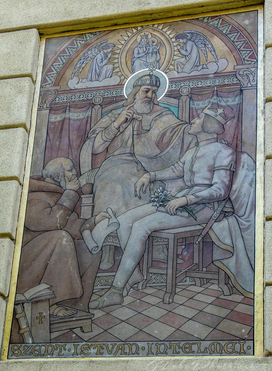 Szent István freskó